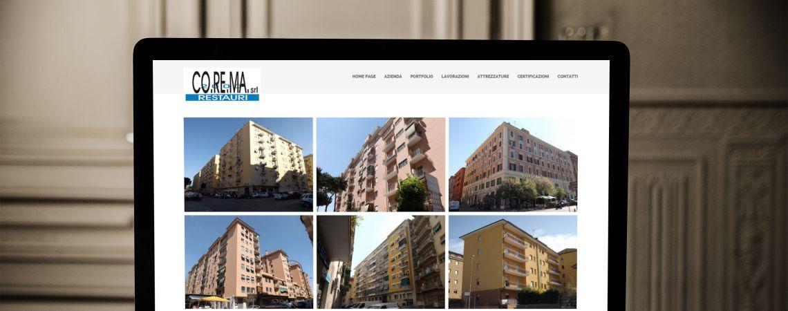 Sito web di Corema Restauri 2000