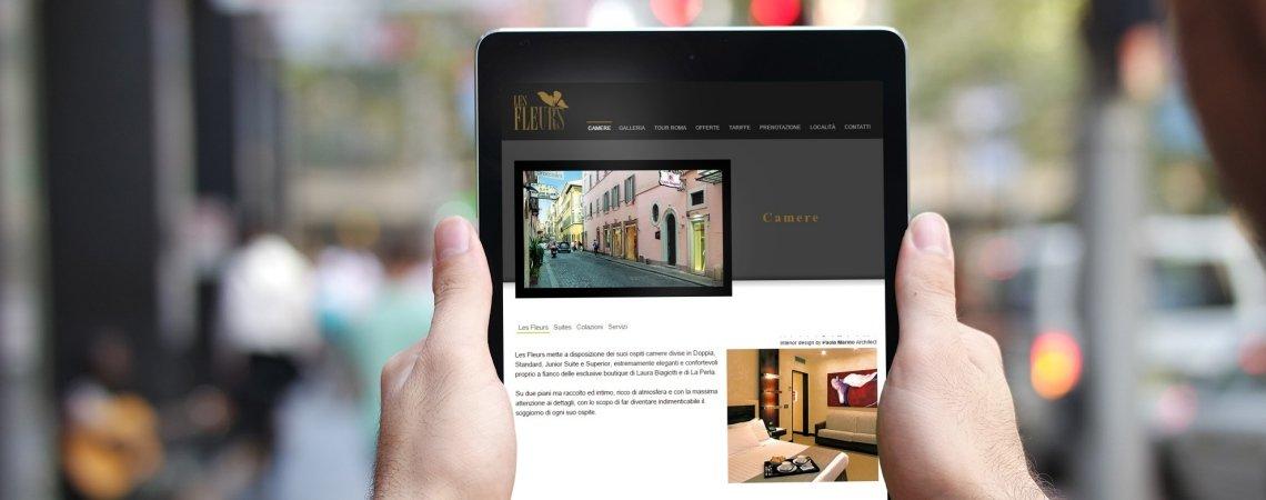 Sito web di Les Fleurs Luxury House a Roma