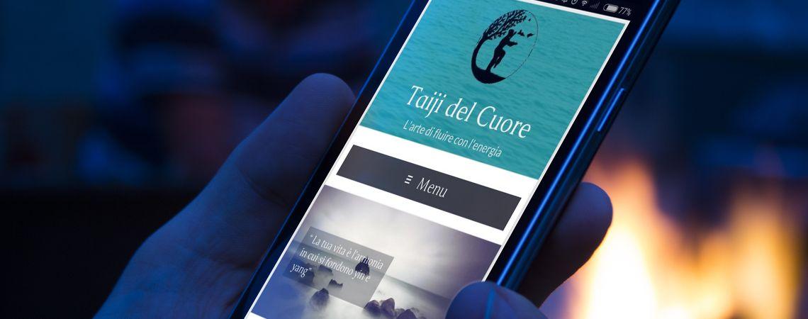 Immagine del nuovo sito web della maestra di Taiji Barbara Fusco su smartphone