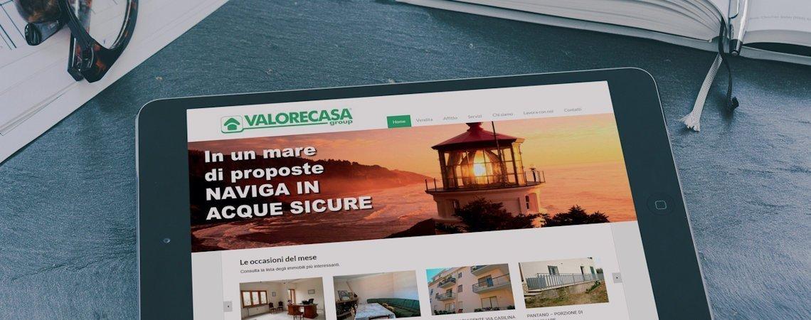 Sito web di Valore Casa Group Immobiliare