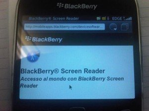 BlackBerry Screen Reader: lettura schermo per utenti non vedenti e ipovedenti