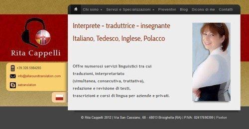 E' online il sito di Rita Cappelli, traduttrice professionista