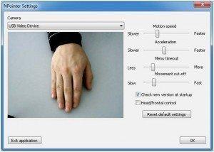 NPointer: il software per controllare il PC senza mouse