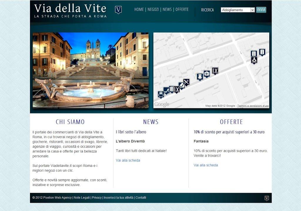 E' online viadellavite.it, il portale di Via della Vite a Roma