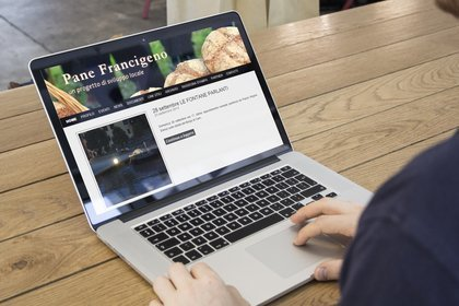 Screenshot sito web Panefrancigeno.it