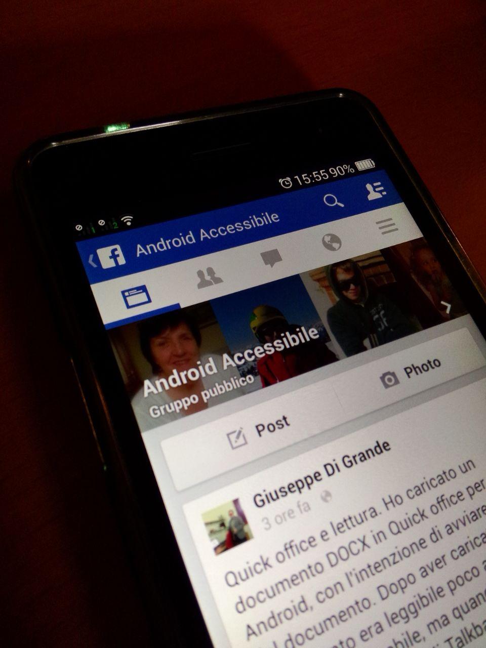 Google Android: su Facebook si parla di accessibilità