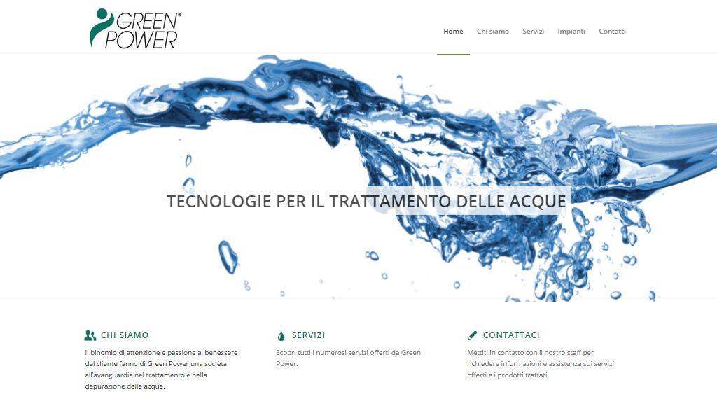 Screenshot nuovo sito web di green Power Group