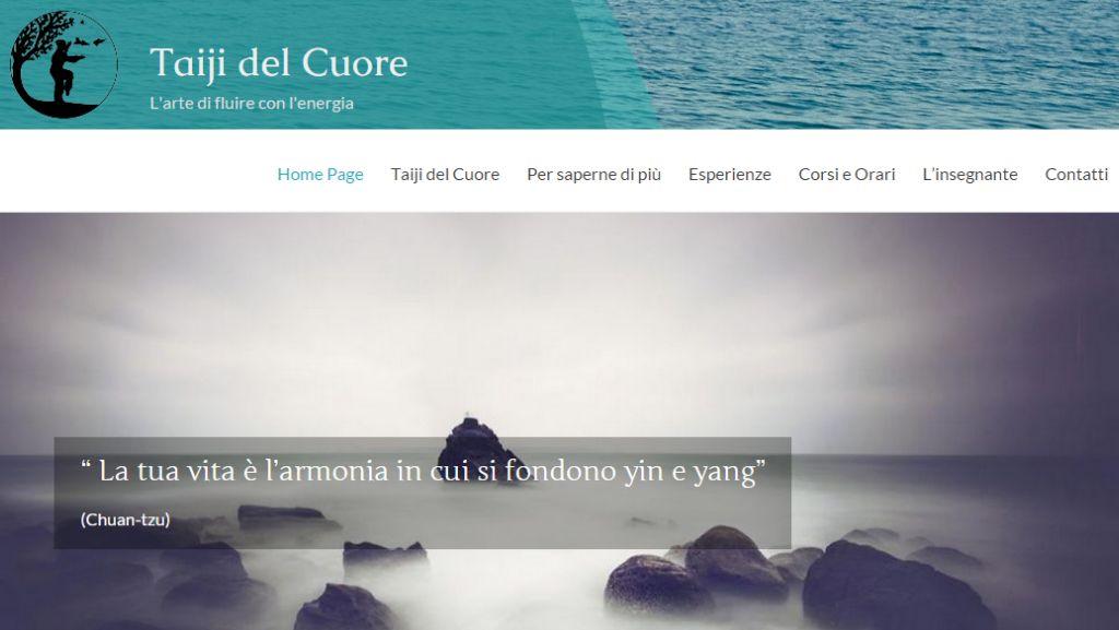 Screenshot nuovo sito web Taiji del Cuore