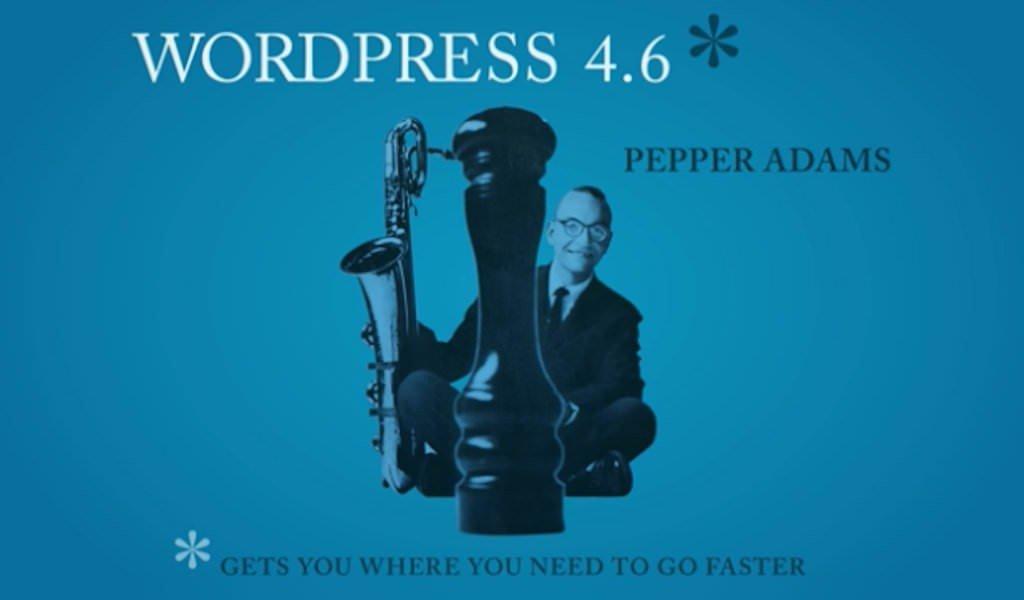 Il logo di WordPress 4.6 dedicato al musicista Pepper Adams