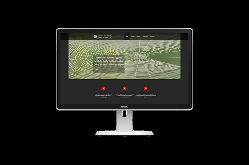 Web design - Sito web dello Studio di Architettura Marco Ruocco su pc desktop