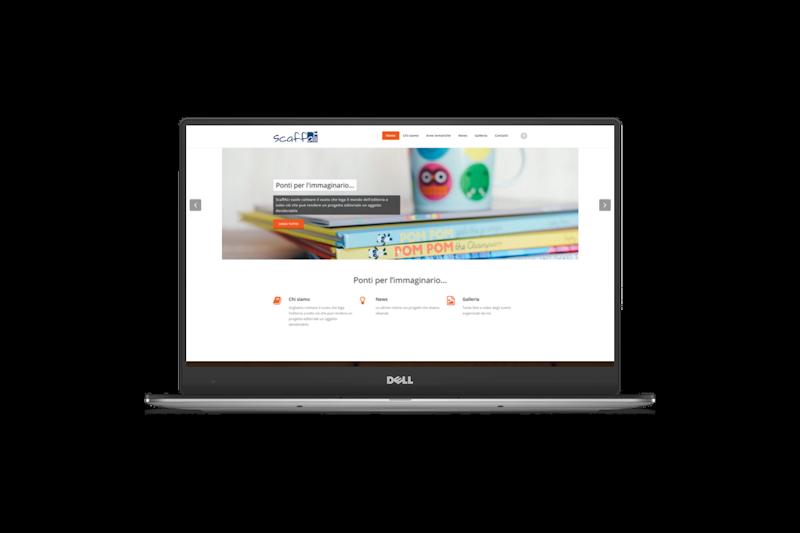 Web design - Sito web dell'Associazione Culturale ScaffALI su pc portatile