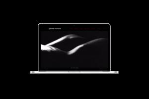 Webdesign - Sito web di Gabriele Morrione su pc portatile