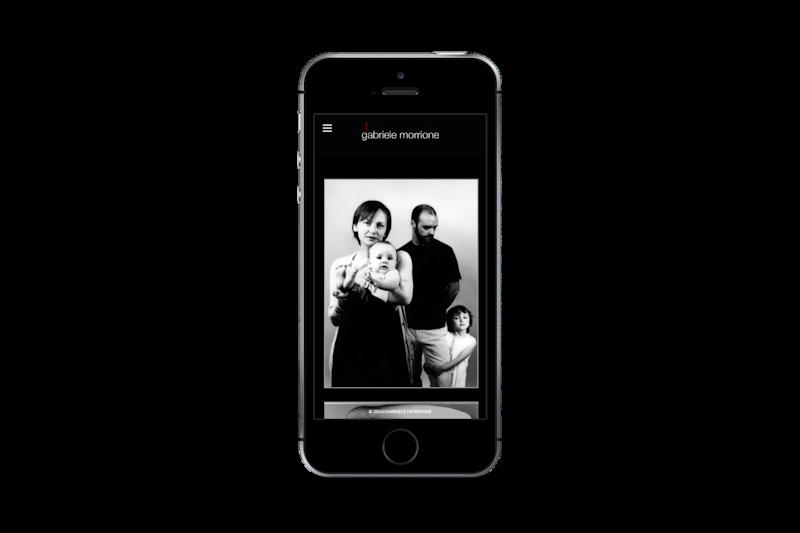 Webdesign - Sito web di Gabriele Morrione su smartphone