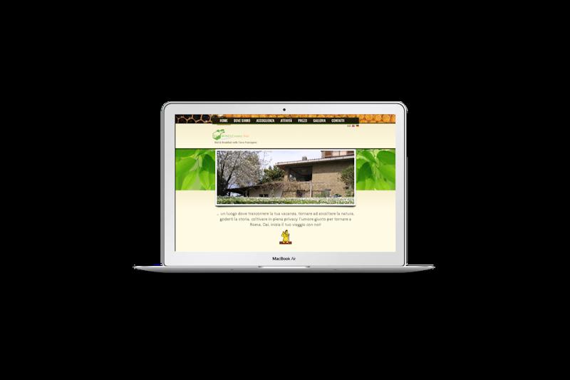 Web design - Sito web di Roma Country Side su pc portatile