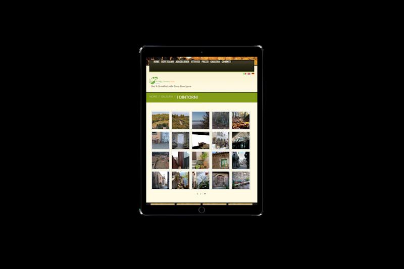 Web design - Sito web di Roma Country Side su pc tablet