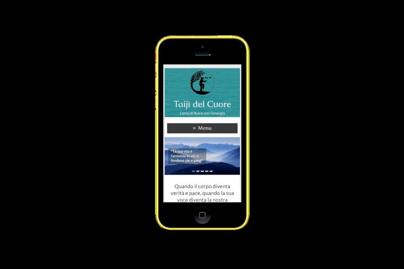 Web design - Sito web di Taiji del Cuore - Barbara Fusco su smartphone