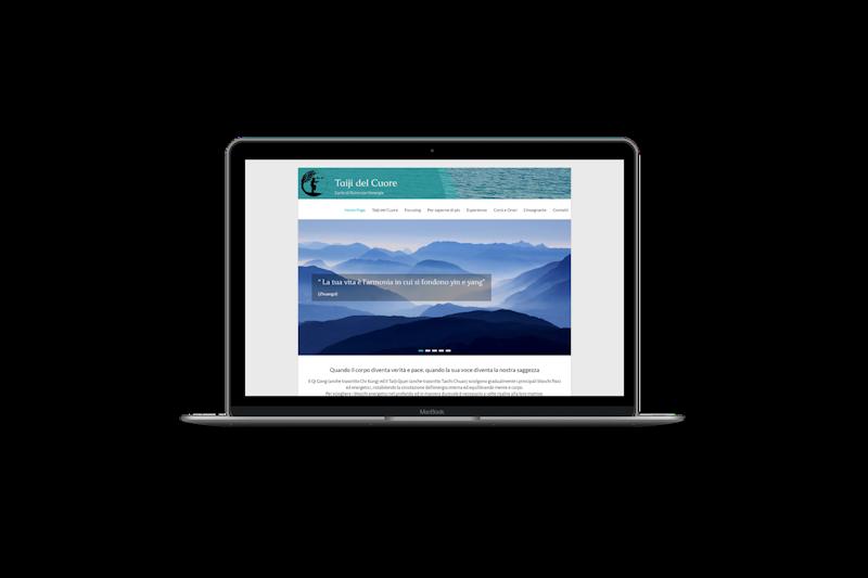 Web design - Sito web di Taiji del Cuore - Barbara Fusco su pc portatile