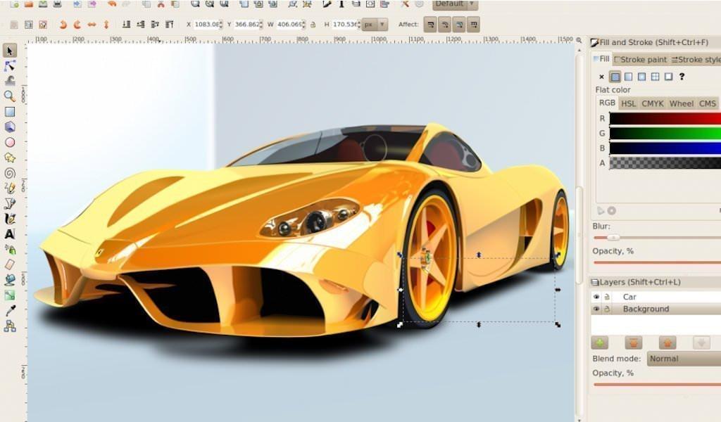 Screenshot di Inkscape 0.92