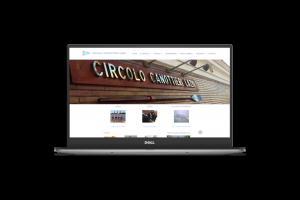 Web design - Sito web del Circolo Canottieri Lazio su pc portatile