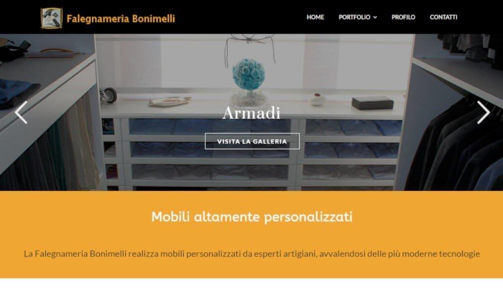 Sito web della Falegnameria Bonimelli a Campagnano di Roma