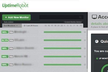 Uptime di un sito web