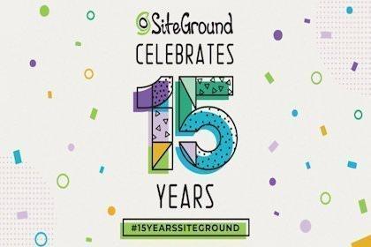 Siteground compie 15 anni
