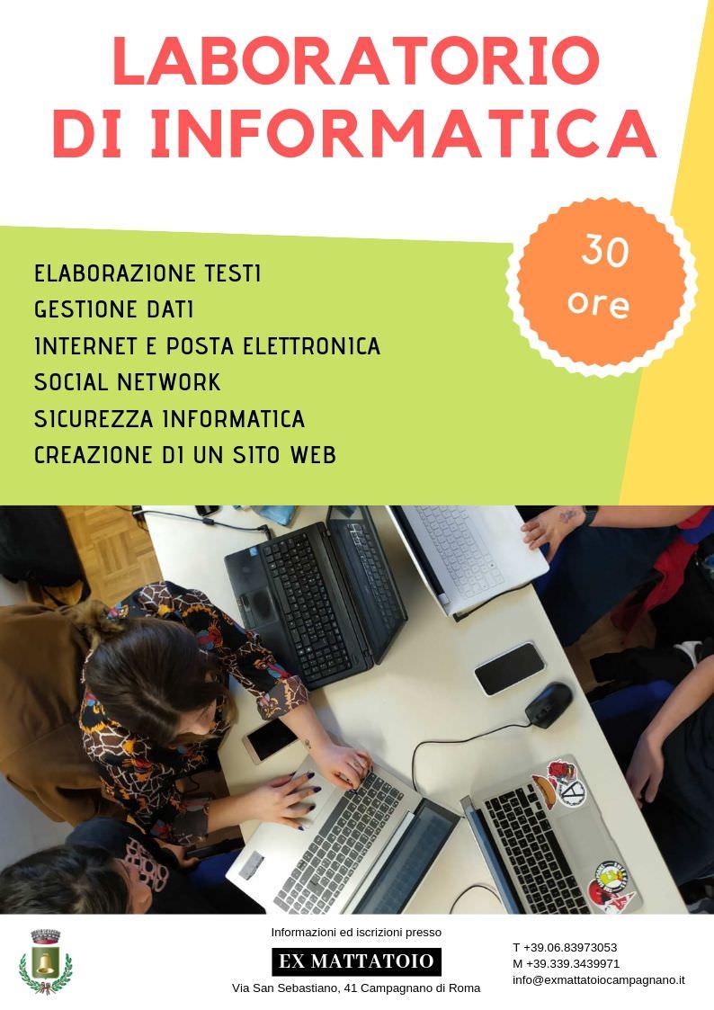 Laboratorio di informatica organizzato da Pselion presso il centro giovanile di Campagnano di Roma